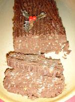 Buche aux marrons sans cuisson - Buche aux marrons sans cuisson ...